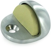 Deltana Hardware - Solid Brass Magnetic & Standard Dome Stops - Solid Brass Low Profile Dome Stop in Brushed Chrome