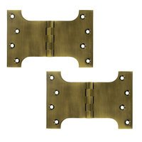 "Deltana Hardware - Solid Brass Parliament Hinges - Solid Brass 4"" x 6"" Parliament Door Hinge (Sold as a Pair) in Antique Brass"