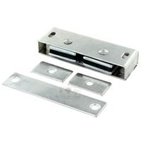 "Deltana Hardware - Door Catches - Solid Brass 3 1/8"" x 1"" x 9/16"" Magnetic Catch in Brushed Chrome"