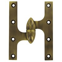 "Deltana Hardware - Solid Brass Olive Knuckle Hinges - Solid Brass 6"" x 4 1/2"" Left Handed Olive Knuckle Door Hinge (Sold Individually) in Oil Rubbed Bronze"