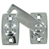 "Deltana Hardware - Solid Brass Shutter Door Latches - Solid Brass 7/8"" Shutter Bar/Door Latch in Chrome"