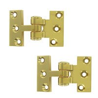 Deltana Hardware - Solid Brass Pivot Hinges - Solid Brass Intermediate Pivot Door Hinge (Sold a Pair) in PVD Brass