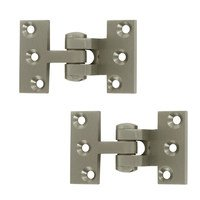 Deltana Hardware - Solid Brass Pivot Hinges - Solid Brass Intermediate Pivot Door Hinge (Sold a Pair) in Brushed Nickel