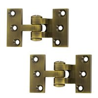 Deltana Hardware - Solid Brass Pivot Hinges - Solid Brass Intermediate Pivot Door Hinge (Sold a Pair) in Antique Brass