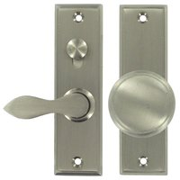 Deltana Hardware - Mortise Door Hardware - Solid Brass Mortise Lock Screen Door Latch in Brushed Nickel