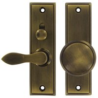 Deltana Hardware - Mortise Door Hardware - Solid Brass Mortise Lock Screen Door Latch in Antique Brass