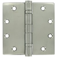 Deltana Hardware - Stainless Steel Hinges - Removable Pin Square Door Hinge (Sold as a Pair) in Polished Stainless Steel