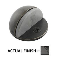 Emtek Hardware - Door Accessories - Half Dome Door Stop in Flat Black