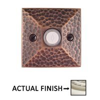 Emtek Hardware - Door Accessories - Illuminated Hammered Door Bell in Oil Rubbed Bronze