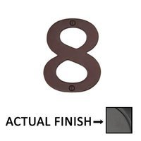 "Emtek Hardware - House Numbers - #8 Bronze 4"" House Number in Flat Black"
