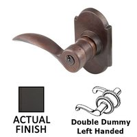 Emtek Hardware - Keyed Knobs and Levers Hardware - Double Dummy Left Handed Durango Lever With #1 Rosette in Flat Black Bronze