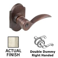 Emtek Hardware - Keyed Knobs and Levers Hardware - Double Dummy Right Handed Durango Lever With #1 Rosette in Flat Black Bronze