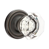 Emtek Hardware - Crystal Door Hardware - Old Town Passage Door Knob with Regular Rose in Oil Rubbed Bronze