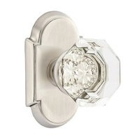 Emtek Hardware - Crystal Door Hardware - Old Town Passage Door Knob with #8 Rose in Polished Nickel