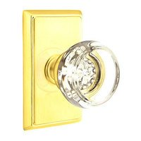Emtek Hardware - Crystal Door Hardware - Georgetown Privacy Door Knob with Rectangular Rose