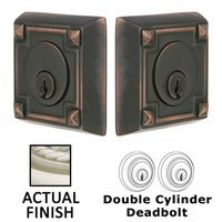 Emtek Hardware - Solid Brass Deadbolts - Arts and Crafts Double Cylinder Deadbolt in Oil Rubbed Bronze