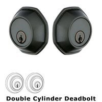 Emtek Hardware - Tuscany Deadbolts - Octagon Double Cylinder Deadbolt in Flat Black Bronze