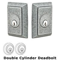 Emtek Hardware - Wrought Steel - Wrought Steel #3 Double Cylinder Deadbolt in Flat Black Steel