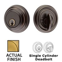 Emtek Hardware - Solid Brass Deadbolts - Low Profile Single Cylinder Deadbolt in Oil Rubbed Bronze