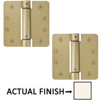 "Emtek Hardware - Door Accessories - 4"" X 4"" 1/4"" Radius UL Steel Spring Hinge in Black"