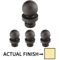 "Emtek Hardware - Door Accessories - Ball Tip Set For 4"" Heavy Duty Or Ball Bearing Solid Brass Hinge in Lifetime Brass"