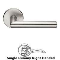 Emtek Hardware - Stainless Steel - Single Dummy Left Handed Stuttgart Door Lever With Brushed Stainless Steel Disk Rose