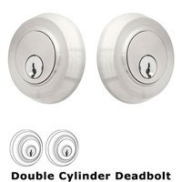 Emtek Hardware - Stainless Steel Deadbolts - Round Stainless Double Cylinder Deadbolt in Satin Stainless Steel