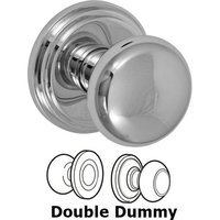 Fusion Hardware - Door Knobs - Double Dummy Half-Round Knob with Stepped Rose in Polished Chrome
