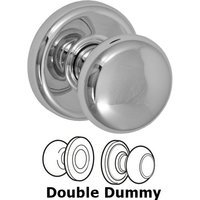Fusion Hardware - Door Knobs - Double Dummy Half-Round Knob with Radius Rose in Polished Chrome
