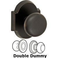 Fusion Hardware - Door Knobs - Double Dummy Half-Round Knob with Beveled Scalloped Rose in Oil Rubbed Bronze