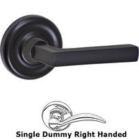 Fusion Hardware - Door Levers - Right Handed Single Dummy Nevada Lever with Contoured Radius Rose in Oil Rubbed Bronze