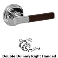Fusion Hardware - Door Levers - Right Handed Double Dummy Samui Lever with Stepped Rose in Polished Chrome