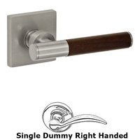 Fusion Hardware - Door Levers - Right Handed Single Dummy Samui Lever with Square Rose in Brushed Nickel