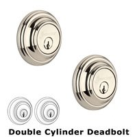 Grandeur Door Hardware - Georgetown - Grandeur Single Cylinder Deadbolt with Georgetown Plate in Timeless Bronze