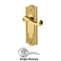 Grandeur Door Hardware - Parthenon - Privacy Parthenon Plate with Newport Left Handed Lever in Satin Nickel