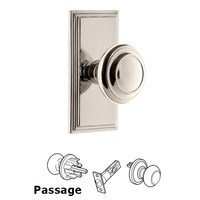 Grandeur Door Hardware - Carre - Grandeur Carre Plate Privacy with Circulaire Knob in Satin Nickel