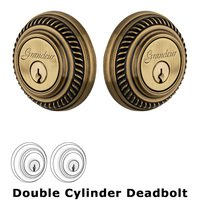 Grandeur Door Hardware - Newport - Grandeur Single Cylinder Deadbolt with Newport Plate in Timeless Bronze