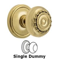 Grandeur Door Hardware - Georgetown - Privacy Knob - Georgetown Rosette with Parthenon Door Knob in Satin Nickel