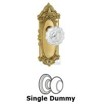 Grandeur Door Hardware - Grande Victorian - Privacy Knob - Grande Victorian Plate with Versailles Crystal Door Knob in Satin Nickel