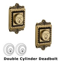 Grandeur Door Hardware - Windsor - Double Deadlock - Windsor Deadbolt in Vintage Brass