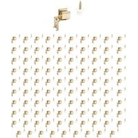 Hardware Resources - Shutter Hardware - (100 PACK) Button Catch, L Mount in Polished Brass