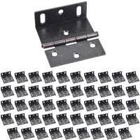 "Hardware Resources - Shutter Hardware - (50 PACK) 2-1/2"" Wrap Around with Large Slotted Holes in Gun Metal"