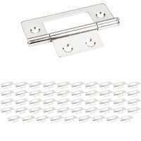 "Hardware Resources - Shutter Hardware - (50 PACK) 4 Hole 3"" Loose Pin Non-mortise Hinge in Bright Nickel"