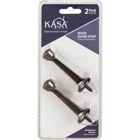 Kasaware - Functional Hardware - (2pc Pack) Rigid Door Stops in Polished Brass