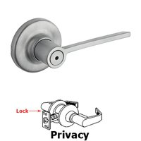 Kwikset Door Hardware - Ladera - Ladera Privacy Door Lever in Satin Chrome