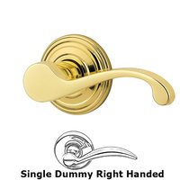 Kwikset Door Hardware - Commonwealth - Commonwealth Single Dummy Door Lever in Bright Brass