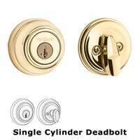 Kwikset Door Hardware - Antimicrobial Microban - Deadbolt Single Cylinder Deadbolt in Venetian Bronze