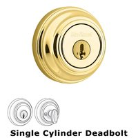 Kwikset Door Hardware - Signature - UL Deadbolt Single Cylinder Deadbolt in Lifetime Brass