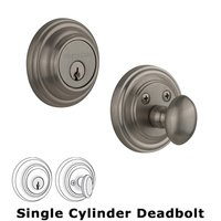 Nostalgic Warehouse - Classic - Single Deadbolt in Satin Nickel