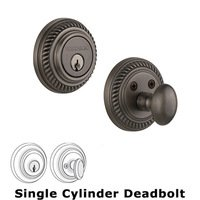 Nostalgic Warehouse - Rope - Single Deadbolt in Antique Pewter